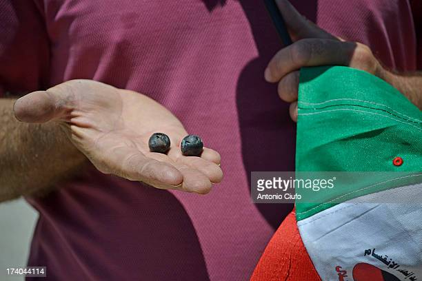 CONTENT] IsraeliPalestinian conflict Palestinian protester shows rubber bullets used by israeli army at Kafr Qaddum demonstration In this village...