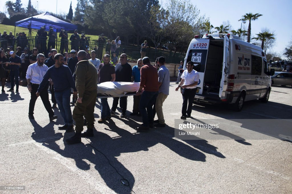 ISR: Funeral Of Victims Of An Attack In Ariel
