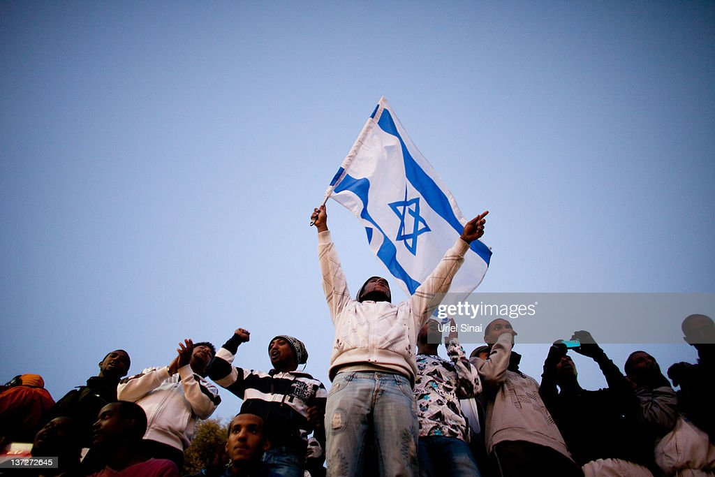 Israelis Of Ethiopian Origin Demonstrate Against Discrimination In Jerusalem : News Photo