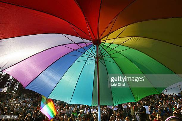 Israelis participate in a Gay Pride rally November 10 2006 in Jerusalem Israel About 2000 alternative lifestyle Israelis were in attendance after...