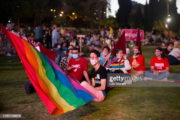 Israelis take part in a rally in support of the LGBT community on June 28, 2020 in Jerusalem, Israel. The rally took place in several cities across...