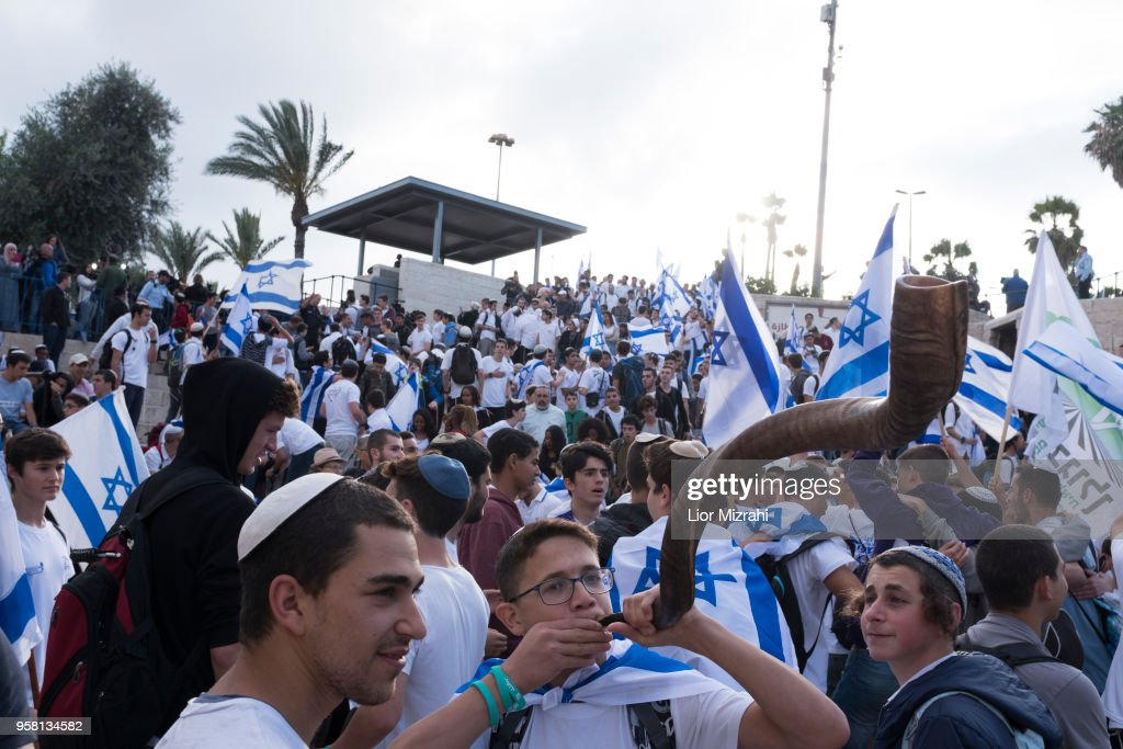 Israeli flag March Takes Place During Jerusalem Day : News Photo