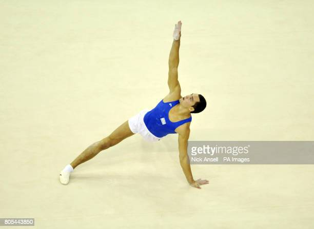 Israel's Alexander Shatilov on floor during the apparatus final during the Gymnastics World Championships at the O2 Arena in London
