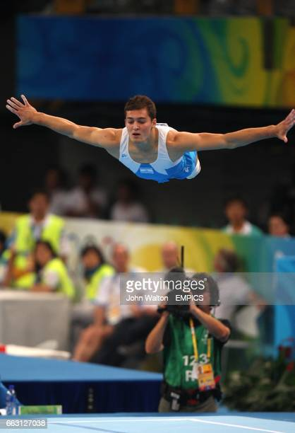 Israel's Alexandr Shatilov during the Gymnastics Men's Apparatus Final at the National Indoor Stadium during the 2008 Olympic Games in Beijing China