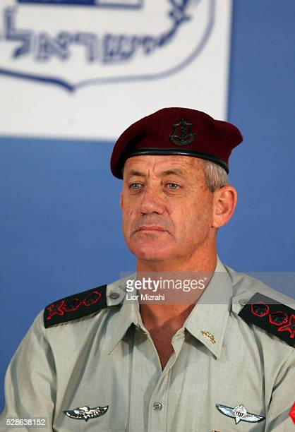 Israel's Army 20th Chief of Staff Benny Gantz is seen during a special ceremony at the Prime Minister's Office on February 24 2011 in Jerusalem Israel