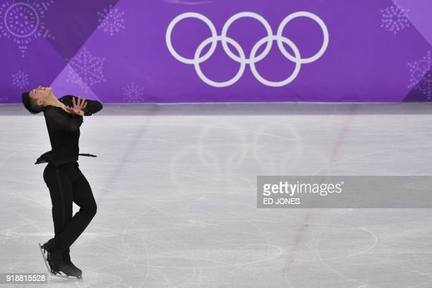 Israel's Daniel Samohin competes in the men's single skating short program of the figure skating event during the Pyeongchang 2018 Winter Olympic...