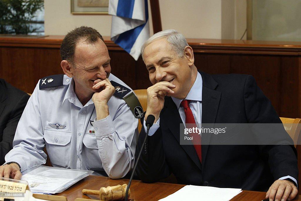 Israel's Prime Minister Benjamin Netanyahu Attends Weekly Cabinet Meeting