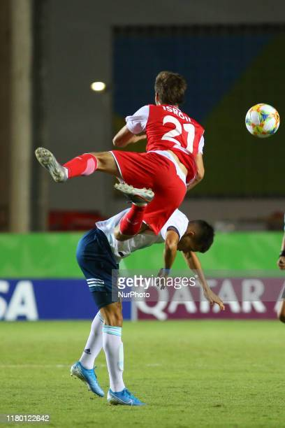 Isroil Kholov of Tajikistan during the FIFA U17 World Cup Brazil 2019 Group E match between Argentina and Tajikistan at Estadio Kleber Andrade on...