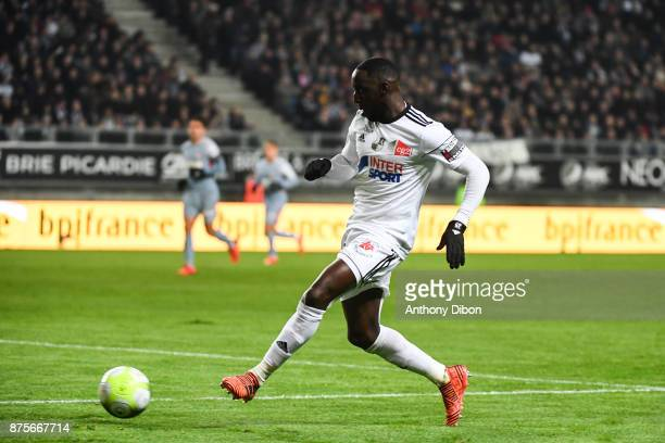 Issa Cissokho of Amiens during the Ligue 1 match between Amiens SC and AS Monaco at Stade de la Licorne on November 17 2017 in Amiens