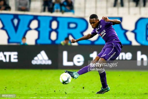 Issa Diop of Marseille during the Ligue 1 match between Olympique Marseille and Toulouse at Stade Velodrome on September 24 2017 in Marseille France