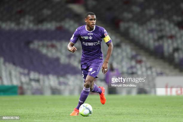Issa Diop of Toulouse during the French League Cup match between Toulouse and Clermont on October 25 2017 in Toulouse France