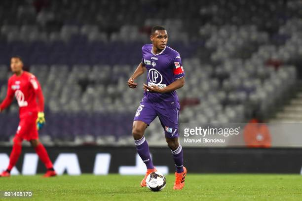 Issa Diop of Toulouse during the french League Cup match Round of 16 between Toulouse and Bordeaux on December 12 2017 in Toulouse France