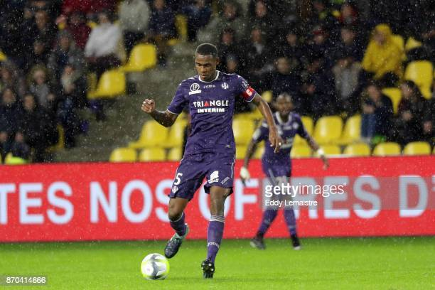 Issa Diop of Toulouse during the Ligue 1 match between Nantes and Toulouse at Stade de la Beaujoire on November 4 2017 in Nantes