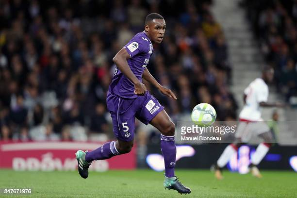 Issa Diop of Toulouse during the Ligue 1 match between Toulouse and FC Girondins de Bordeaux at Stadium Municipal on September 15 2017 in Toulouse