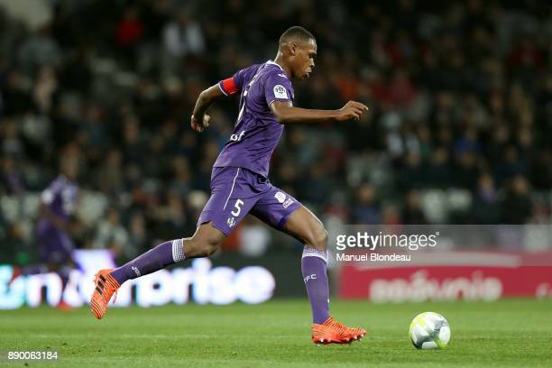 Issa Diop of Toulouse during the Ligue 1 match between Toulouse and SM Caen at Stadium Municipal on December 9 2017 in Toulouse