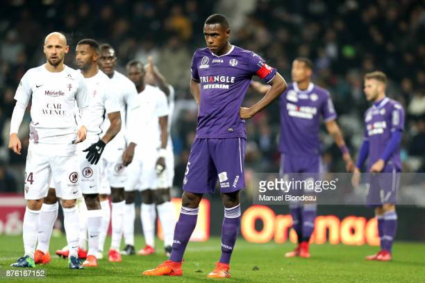 Issa Diop of Toulouse during the Ligue 1 match between Toulouse FC and FC Metz at Stadium Municipal on November 18 2017 in Toulouse