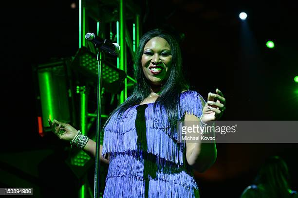 Issa Pointer of The Pointer Sisters performs at City Of Hope Honors Halston CEO Ben Malka With Spirit Of Life Award at Exchange LA on October 10 2012...