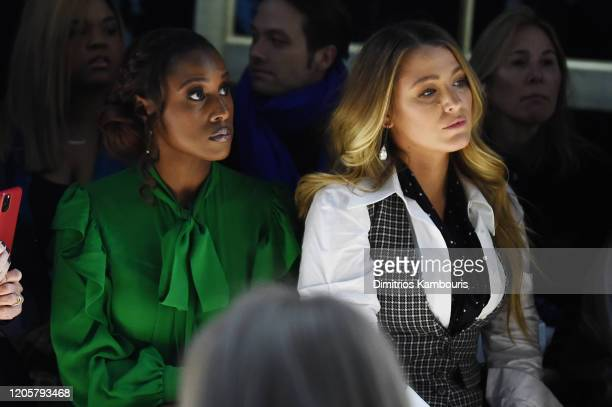 Issa Rae and Blake Lively attend the Michael Kors FW20 Runway Show on February 12 2020 in New York City