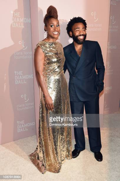 Issa Rae and Childish Gambino attend Rihanna's 4th Annual Diamond Ball benefitting The Clara Lionel Foundation at Cipriani Wall Street on September...