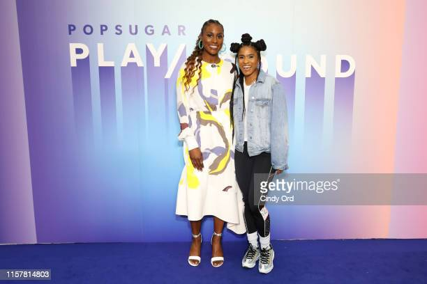 Issa Rae and Deja Riley attend the POPSUGAR Play/Ground at Pier 94 on June 23, 2019 in New York City.