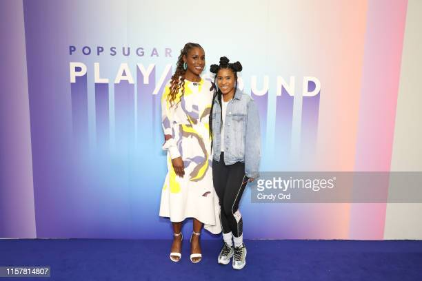 Issa Rae and Deja Riley attend the POPSUGAR Play/ground at Pier 94 on June 22 2019 in New York City