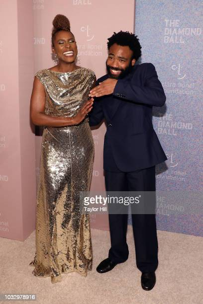 Issa Rae and Donald Glover attend the 2018 Diamond Ball at Cipriani Wall Street on September 13 2018 in New York City
