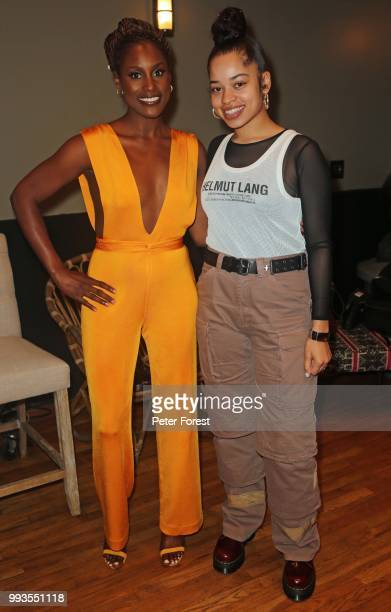 Issa Rae and Ella Mai pose for a photo during HBO's Insecure Live Wine Down at Essence at the Ace Hotel on July 7 2018 in New Orleans Louisiana