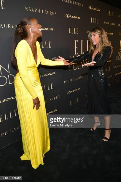 Issa Rae and ELLE EditorinChief Nina Garcia attend ELLE's 26th Annual Women In Hollywood Celebration Presented By Ralph Lauren And Lexus at The Four...