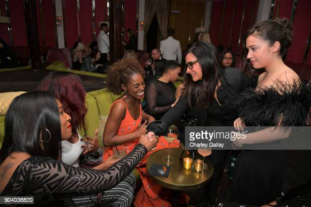 Issa Rae and Pamela Adlon attend the Marie Claire's Image Makers Awards 2018 on January 11 2018 in West Hollywood California