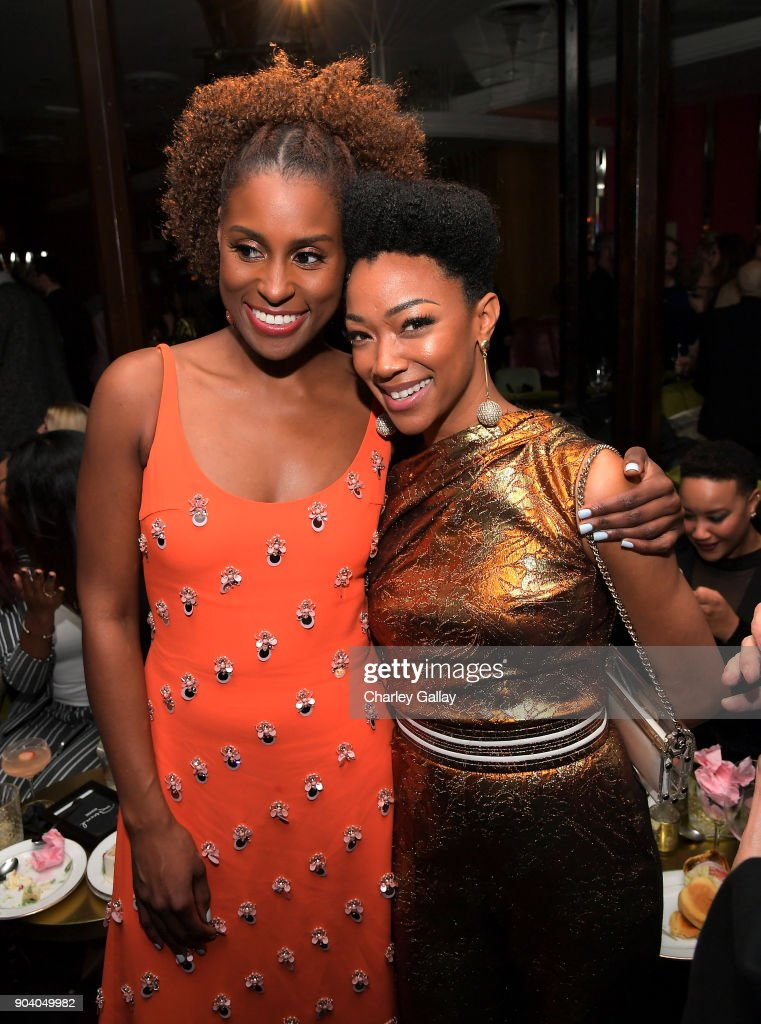 Issa Rae (L) and Sonequa Martin attend the Marie Claire's Image Makers Awards 2018 on January 11, 2018 in West Hollywood, California.