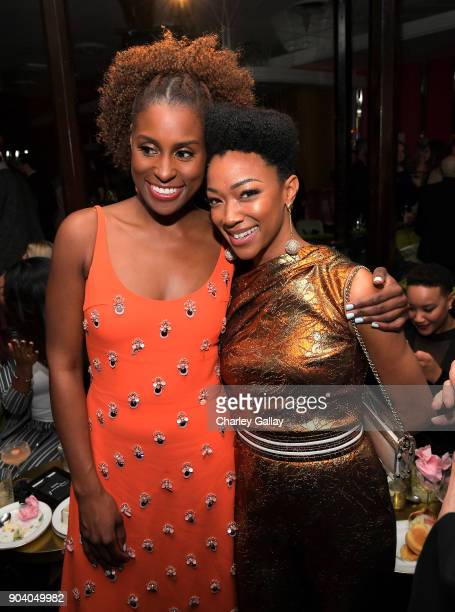 Issa Rae and Sonequa Martin attend the Marie Claire's Image Makers Awards 2018 on January 11 2018 in West Hollywood California