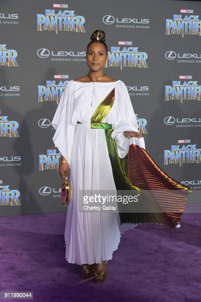 Issa Rae arrives for the World Premiere of Marvel Studios' Black Panther presented by Lexus at Dolby Theatre in Hollywood on January 29th