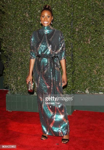 Issa Rae arrives to the 49th NAACP Image Awards held at Pasadena Civic Auditorium on January 15 2018 in Pasadena California