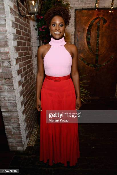 Issa Rae at Moet Celebrates The 75th Anniversary of The Golden Globes Award Season at Catch LA on November 15 2017 in West Hollywood California