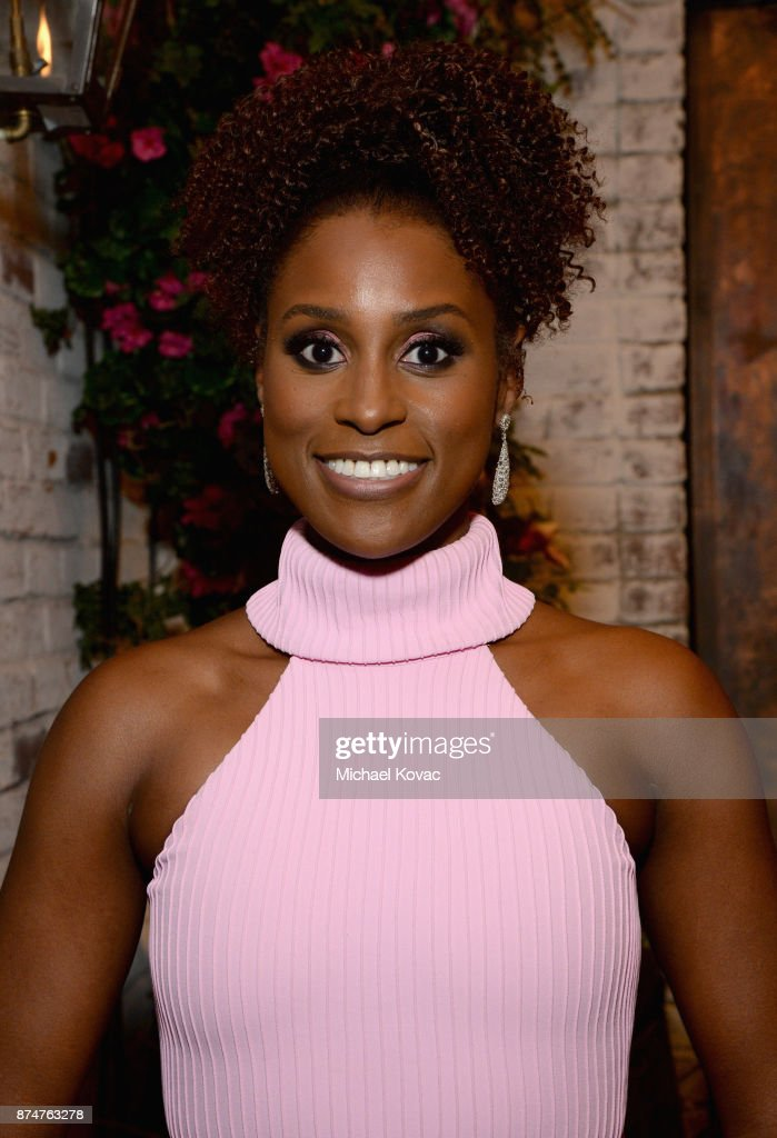 Issa Rae at Moet Celebrates The 75th Anniversary of The Golden Globes Award Season at Catch LA on November 15, 2017 in West Hollywood, California.