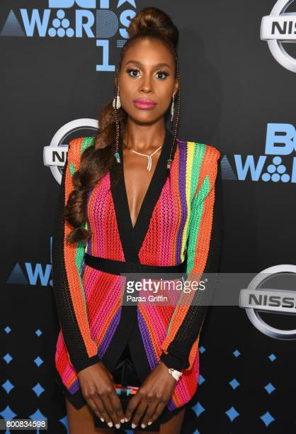 Issa Rae at the 2017 BET Awards at Staples Center on June 25 2017 in Los Angeles California