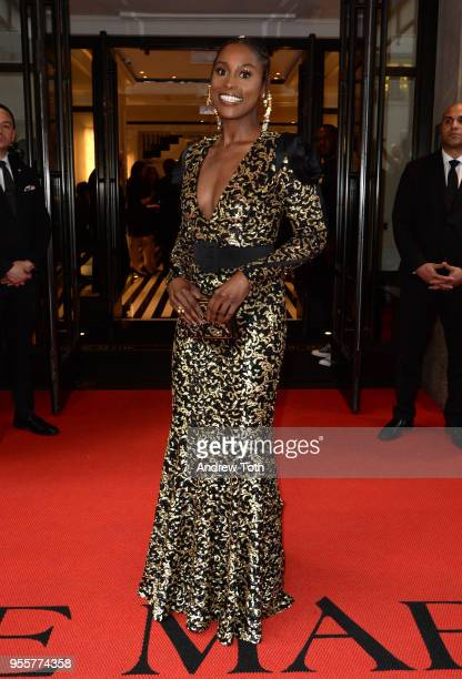 Issa Rae attends as The Mark Hotel celebrates the 2018 Met Gala at The Mark Hotel on May 7 2018 in New York City