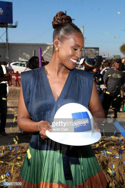Issa Rae attends Destination Crenshaw Groundbreaking Event with over 2000 community residents including Emmy Nominated Actress and Writer Issa Rae...