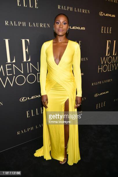 Issa Rae attends ELLE's 26th Annual Women In Hollywood Celebration Presented By Ralph Lauren And Lexus at The Four Seasons Hotel Los Angeles on...