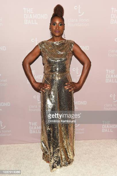 Issa Rae attends Rihanna's 4th Annual Diamond Ball benefitting The Clara Lionel Foundation at Cipriani Wall Street on September 13 2018 in New York...
