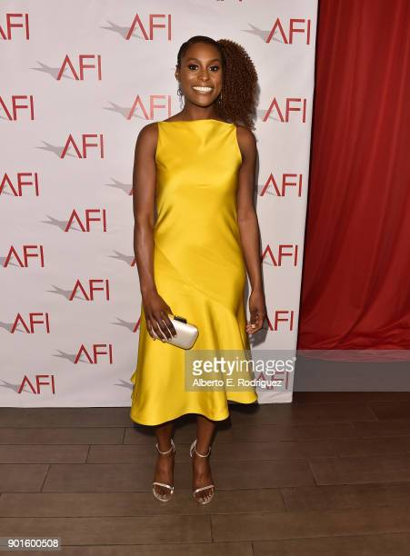 Issa Rae attends the 18th Annual AFI Awards at Four Seasons Hotel Los Angeles at Beverly Hills on January 5 2018 in Los Angeles California