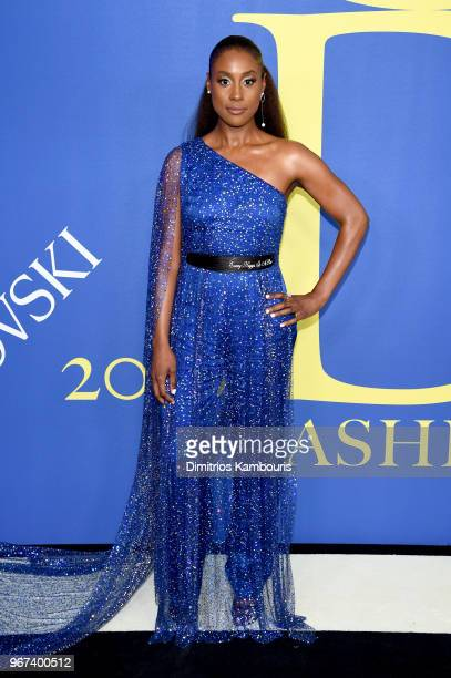 Issa Rae attends the 2018 CFDA Fashion Awards at Brooklyn Museum on June 4 2018 in New York City