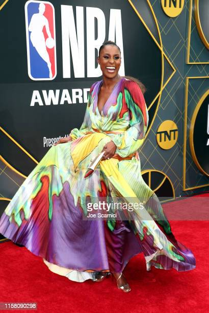 Issa Rae attends the 2019 NBA Awards presented by Kia on TNT at Barker Hangar on June 24 2019 in Santa Monica California
