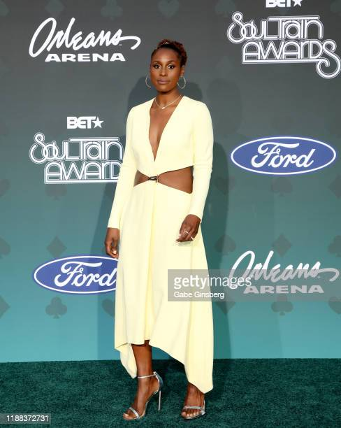 Issa Rae attends the 2019 Soul Train Awards at the Orleans Arena on November 17 2019 in Las Vegas Nevada