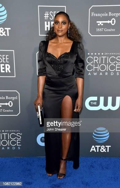 Issa Rae attends the 24th Annual Critics' Choice Awards at Barker Hangar on January 13 2019 in Santa Monica California