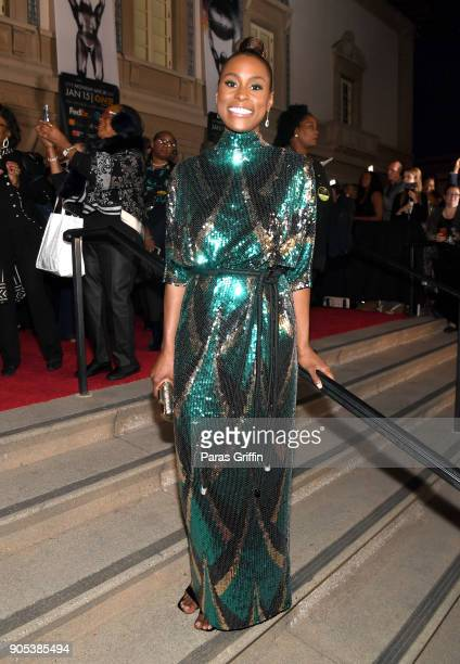 Issa Rae attends the 49th NAACP Image Awards at Pasadena Civic Auditorium on January 15 2018 in Pasadena California