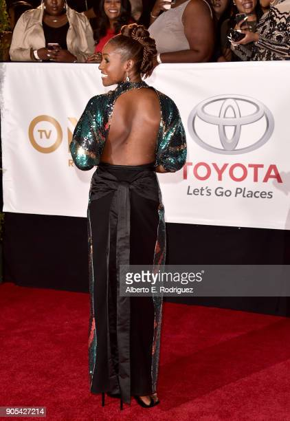 Issa Rae attends the 49th NAACP Image Awards at Pasadena Civic Auditorium on January 15 2018 in Pasadena California