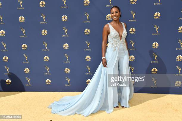 Issa Rae attends the 70th Emmy Awards at Microsoft Theater on September 17 2018 in Los Angeles California