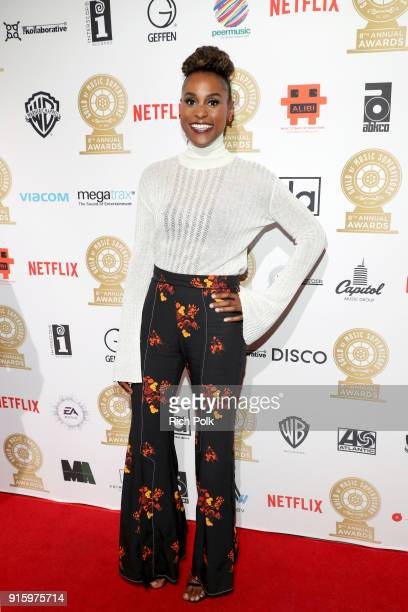 Issa Rae attends the 8th Annual Guild of Music Supervisors Awards at The Theatre at Ace Hotel on February 8 2018 in Los Angeles California