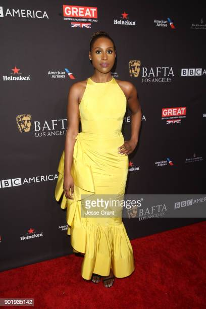 Issa Rae attends The BAFTA Los Angeles Tea Party at Four Seasons Hotel Los Angeles at Beverly Hills on January 6 2018 in Los Angeles California